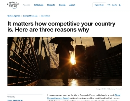 It matters how competitive your country is. Here are three reasons why